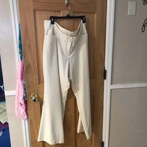 Winter white full leg dress pants